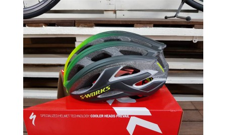 CASCO SPECIALIZED PREVAIL II NEGRO MATE VERDE