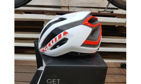 CASCO SCOTT CENTRIC PLUS BLANCO ROJO