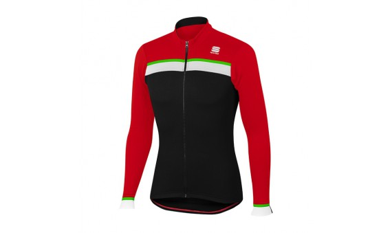 Maillot Sportful Pista Thermal manga larga negro rojo
