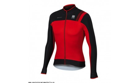Maillot Sportful Bodyfit Pro Thermal manga larga rojo negro
