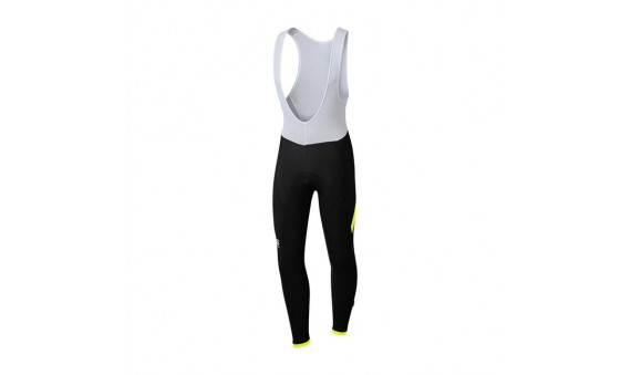 Culote largo Sportful Giro BibTight negro amarillo flúor