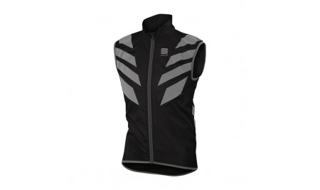 Chaleco reflectante Sportful Reflex Vest negro