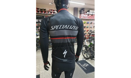 MAILLOT SPECIALIZED  THERMINAL RBX COMP NEGRO/ANTRACITA