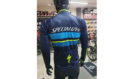 MAILLOT SPECIALIZED  THERMINAL RBX COMP  AZUL/NEON AZUL
