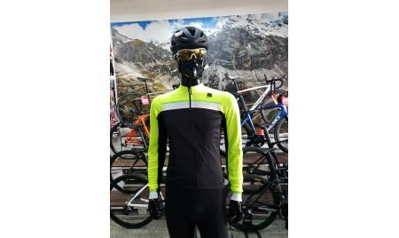 Maillot Sportful Pista Thermal manga larga negro amarillo flúor